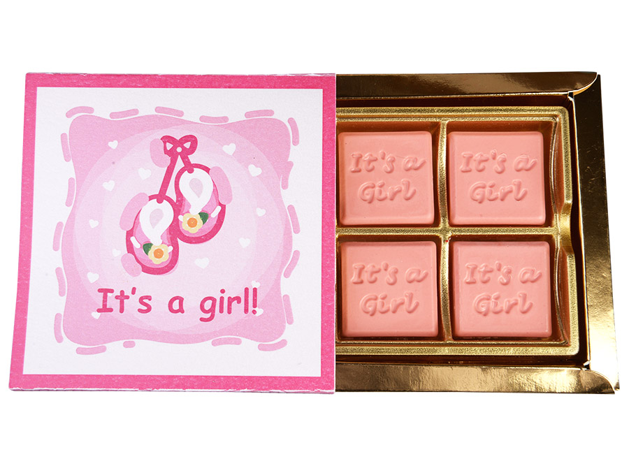 Classic Girl, 4 Pcs Customized Belgian Chocolate