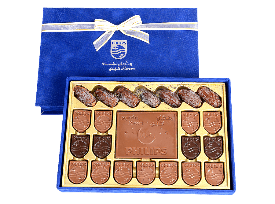 Meeting S – 2 Piece Customized Greeting Bar In Belgian Chocolate In A Customized Box