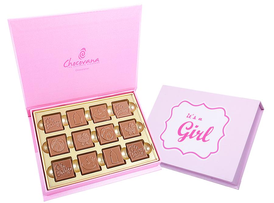 Gracious Girl, 12 Pcs Customized Belgian Chocolate