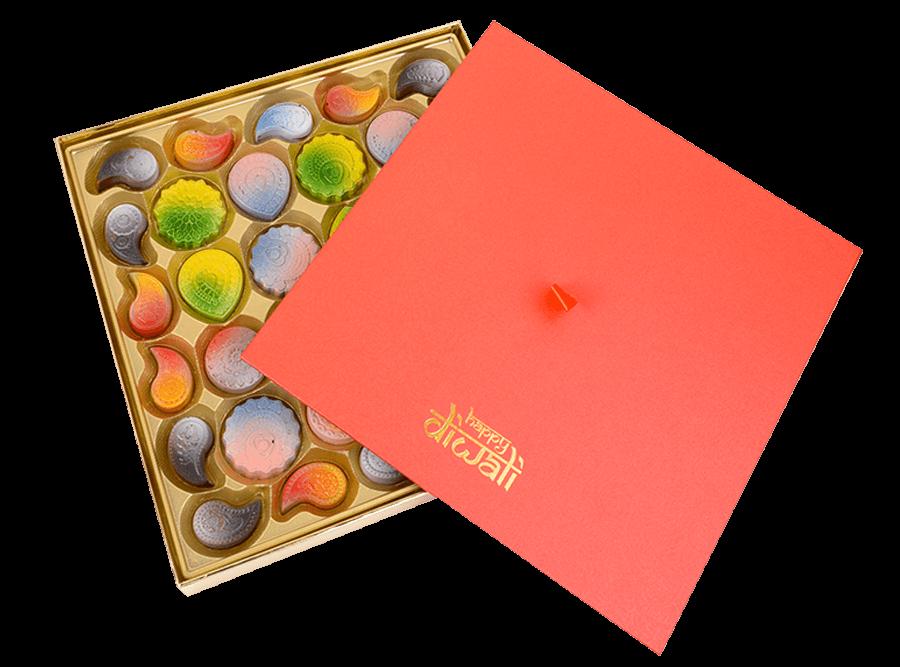 Sonum Diwali, 32 Pcs Customized Belgian Chocolate
