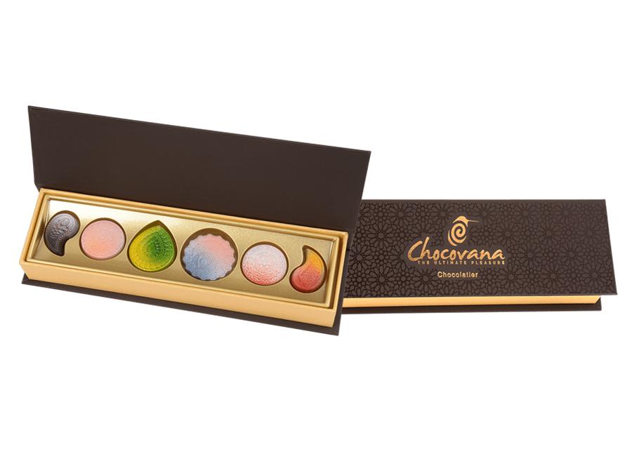 Elegance Diwali, 5 Pcs Customized Belgian Chocolate
