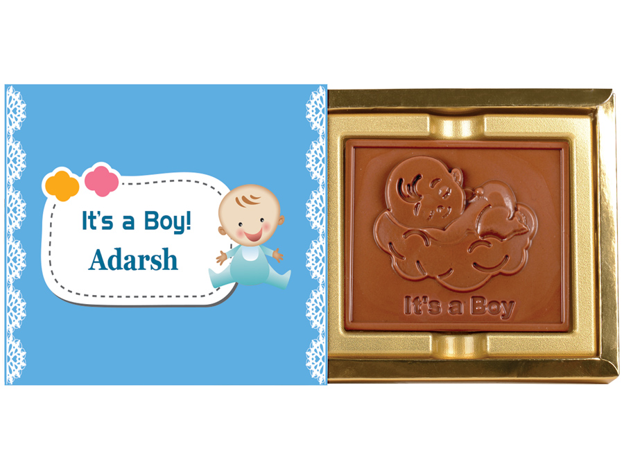 Greeting Bar Boy, 1 Pc Bar In Belgian Chocolate