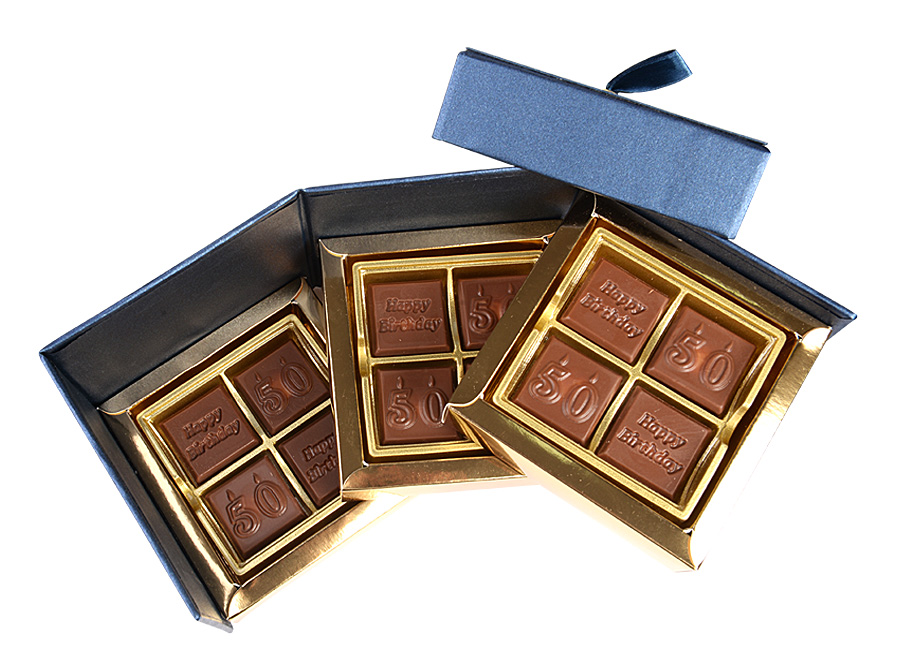 Roulette Birthday, 12 Pcs Customized Belgian Chocolate