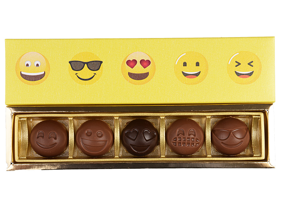 Emoji Elegance, 5 Pcs Customized Belgian Chocolate