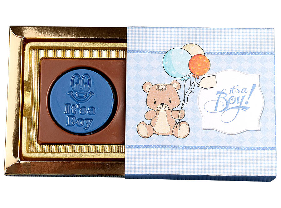 It's A Boy, 2 Pcs Customized Belgian Chocolate