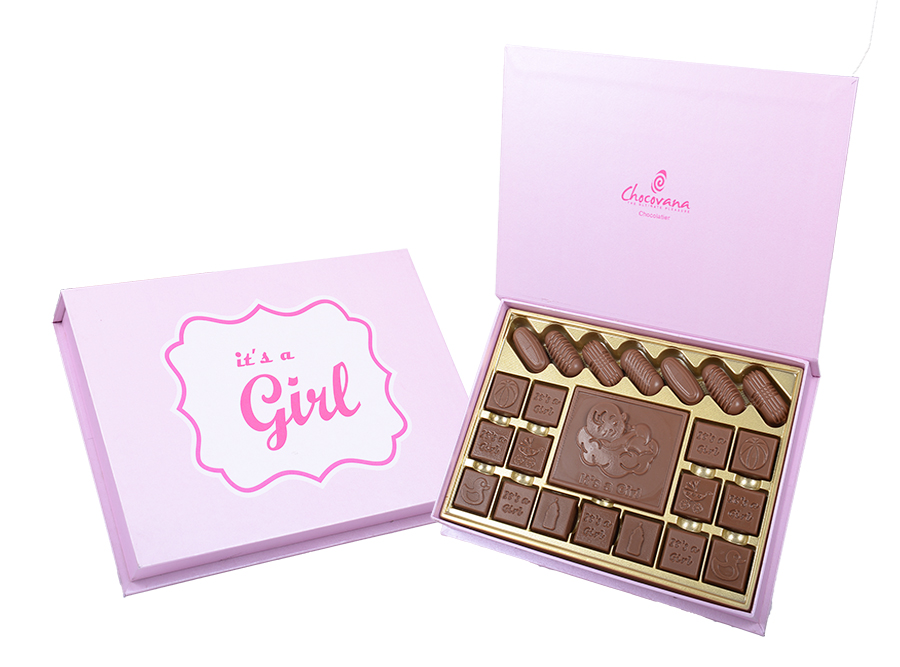 Bella Girl, 22 Pcs + 1 Bar In Customized Belgian Chocolate